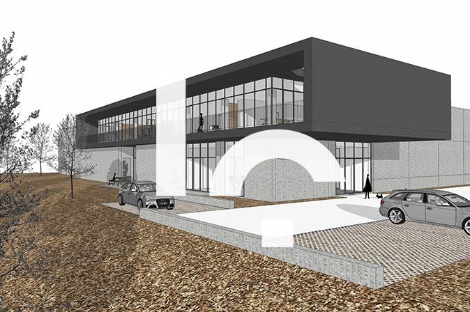 Construction d'un entrepôt et des bureaux : Projet Bem's par RG architectes