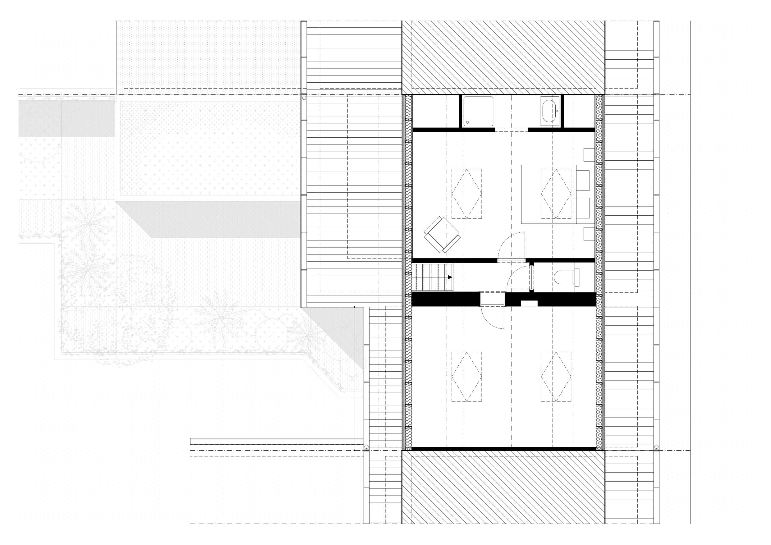 RG architectes | Plan extension Gaston