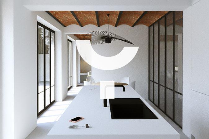 Rénovation d'une maison : projet SDA par RG architectes