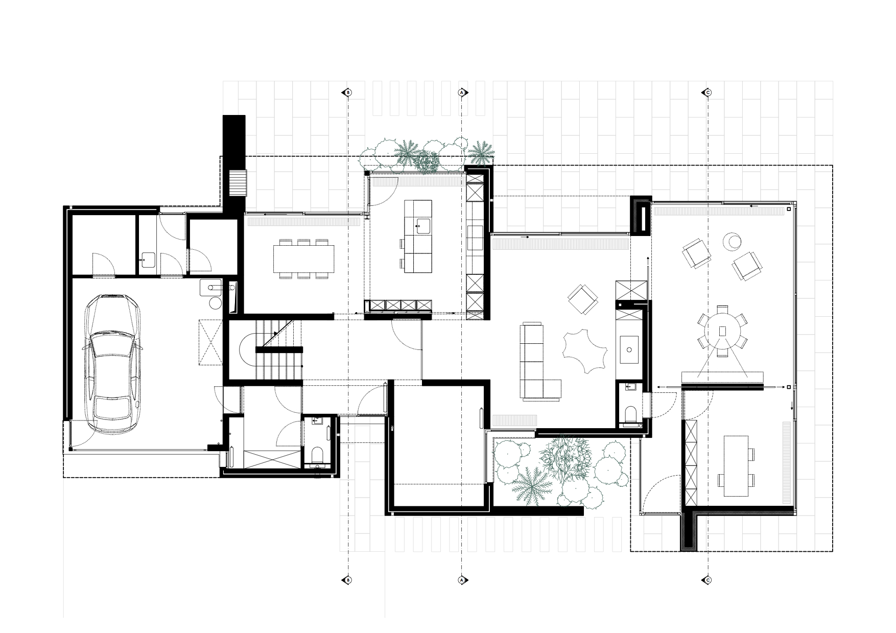 RG architectes | Plan extension Warchais