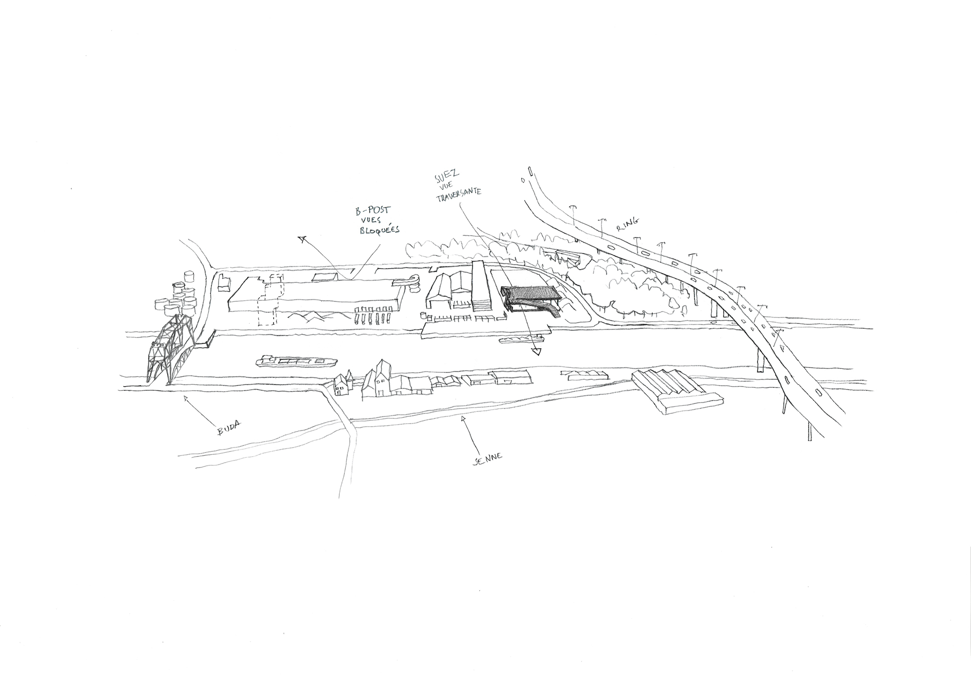 RG architectes | Dessin Suez
