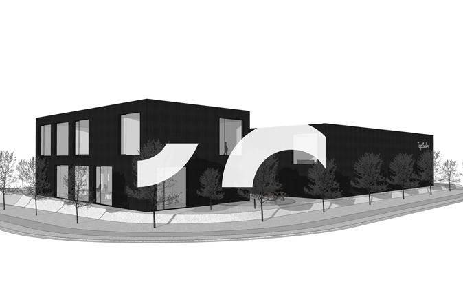 RG architectes | 3D TopSales bureaux et hall industriel